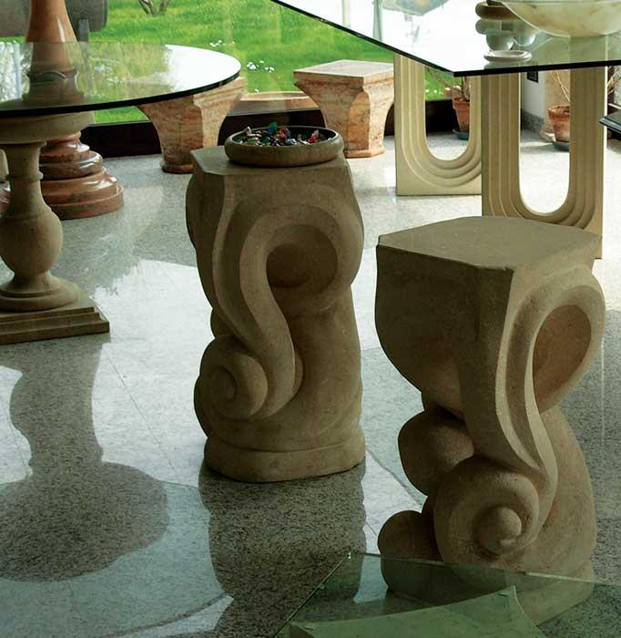 arredi basamenti per tavoli in marmo