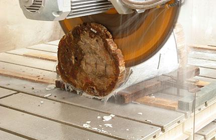 taglio massello di onice fossile