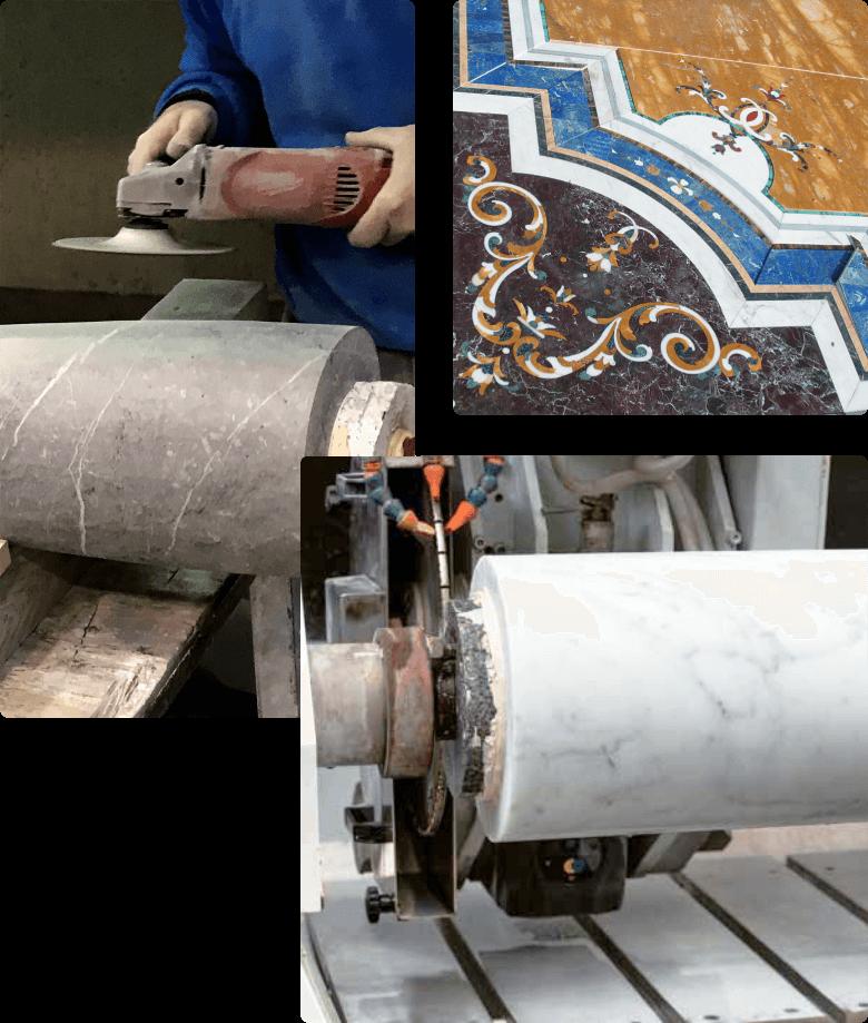 lavorazioni di precisione e da massello di marmo